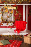Autumn picnic on the veranda of a country house Stock Photography