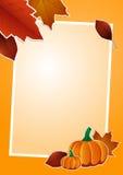 Autumn picture frame Stock Photos