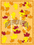 Autumn picture in japanese slyle. Autumnr picture withmaple leaves in japanese style Stock Image