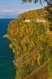Autumn Pictured Rocks. National Lakeshore, Michigan's Upper Peninsula, USA royalty free stock photo