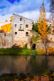 Autumn picturesque view of old houses Stock Image