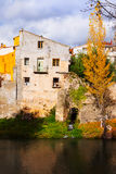 Autumn picturesque view of vintage houses Stock Image