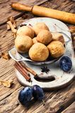 Pies with autumn plum Royalty Free Stock Photography