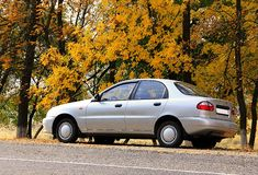 Autumn pit stop Royalty Free Stock Images