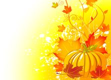 Autumn place card Stock Photography