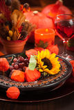 Autumn place setting Stock Photography