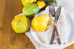 Autumn place setting Royalty Free Stock Image
