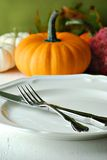 Autumn placesetting Royalty Free Stock Images