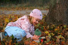 Autumn play Royalty Free Stock Photos