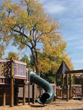 Autumn Playground. View of a city park playground in early Autumn Royalty Free Stock Images
