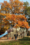 Autumn playground Stock Photo