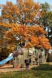 Autumn playground stock photo