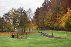 Autumn playground scenery Stock Photos