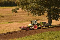 Autumn Ploughing Royalty Free Stock Photos