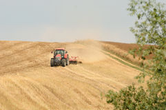 Autumn ploughing Stock Photography