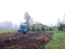 Autumn plowing Stock Image