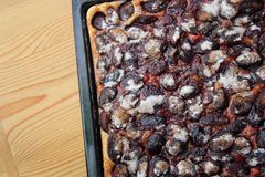 Autumn Plum Pastry Pie foto de stock