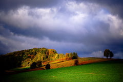 Autumn in Poland. Autumn in southern Poland, among hills and forests of Roztocze stock photo