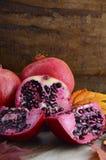 Autumn pomegranate fruit. Royalty Free Stock Photos