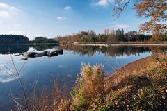 Autumn on the pond Stock Photography