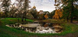 Autumn pond Stock Photos