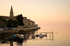 Autumn in Porec, Croatia. Europe, photographed at sunset Stock Image
