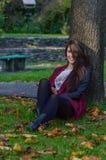 Autumn portait, lovely girl. Photo of a beautiful girl in autumn Royalty Free Stock Photo