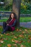 Autumn portait, lovely girl. Photo of a beautiful girl in autumn Stock Image