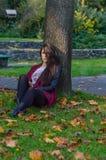 Autumn portait, lovely girl. Photo of a beautiful girl in autumn Stock Photo