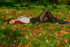Autumn portait, lovely girl Stock Image