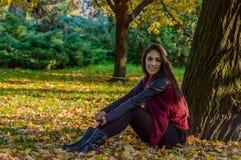 Autumn portait, lovely girl. Photo of a beautiful girl in autumn Stock Photography