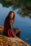 Autumn portait, lovely girl Royalty Free Stock Image