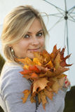 Autumn portrait royalty free stock photos