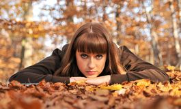 Autumn portrait. Royalty Free Stock Images