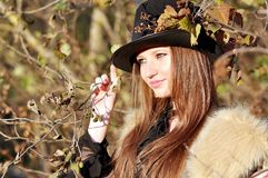 Autumn portrait. Of young girl Stock Photography