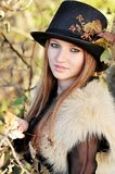 Autumn portrait. Of young girl Royalty Free Stock Image
