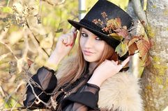 Autumn portrait. Of young girl Royalty Free Stock Images