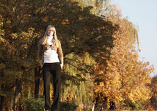 Autumn Portrait. Portrait of a young girl royalty free stock photos