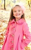 Autumn portrait of adorable little girl Stock Photography