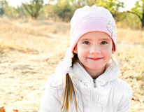 Autumn portrait of adorable little girl Stock Photo