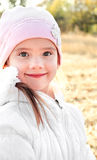 Autumn portrait of adorable little girl Royalty Free Stock Images