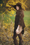 Autumn portrait of a beautiful girl Royalty Free Stock Images