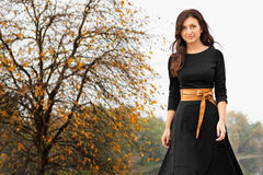 Autumn portrait of a beautiful girl. Royalty Free Stock Photos