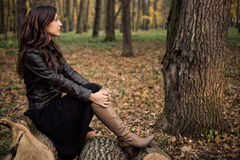 Autumn portrait of a beautiful girl. Royalty Free Stock Images