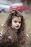 Autumn portrait of a beautiful little girl Royalty Free Stock Image