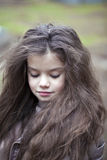 Autumn portrait of a beautiful little girl Stock Photo