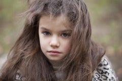 Autumn portrait of a beautiful little girl Stock Image