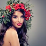 Autumn Portrait of Beautiful Woman Fashion Model