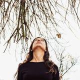 Autumn portrait of a beautiful woman Royalty Free Stock Photo