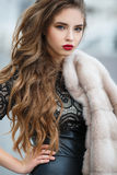 Autumn portrait of the beautiful woman Royalty Free Stock Images
